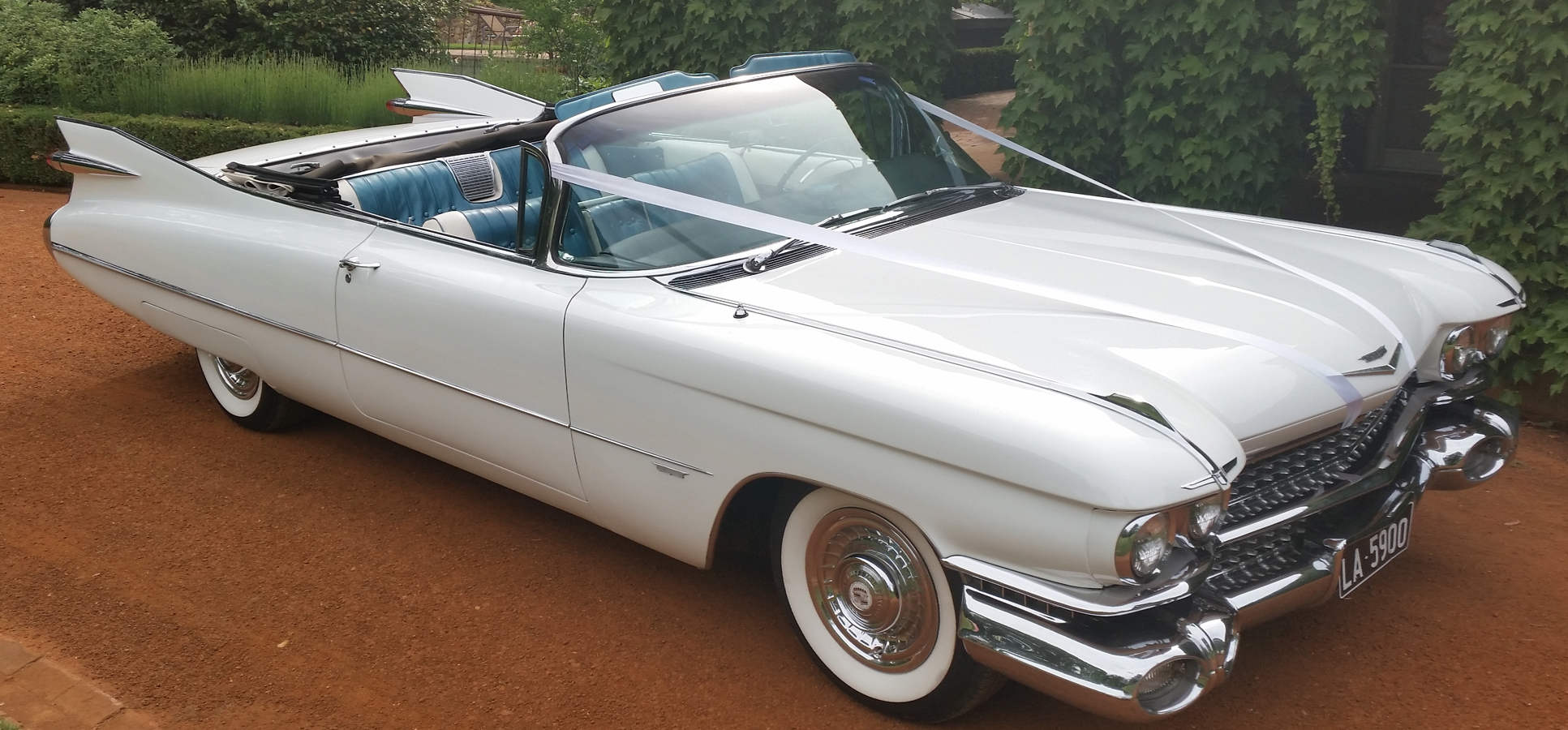 Cadillac Convertible Wedding
